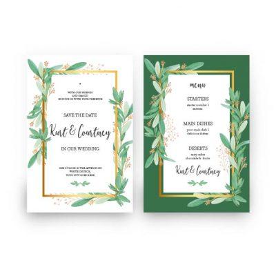 bingkai undangan pernikahan