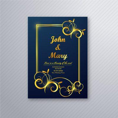 bingkai undangan pernikahan keren
