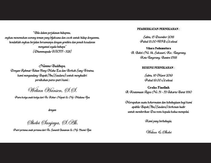 isi undangan pernikahan budha