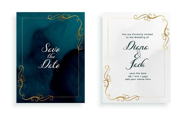 bingkai undangan pernikahan Elegant-Wedding-Frame