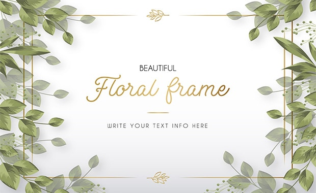 Modern Beautiful Floral Frame