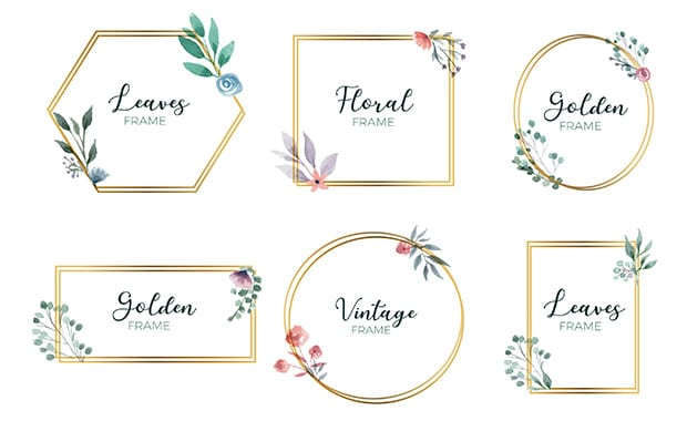 golden-floral-frame-collection