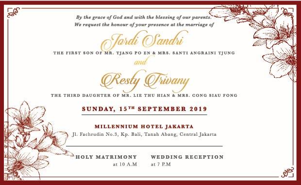 kata-kata undangan pernikahan