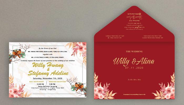 kertas linen sebagai jenis kertas undangan