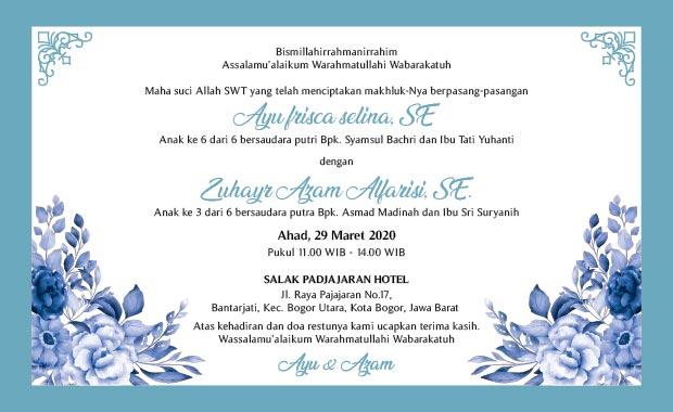 isi undangan pernikahan bahasa sunda isalami