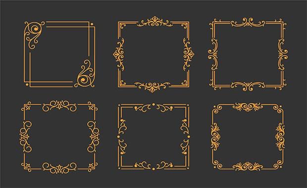 vintage-golden-frame
