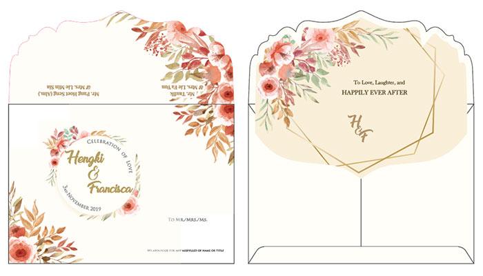 undangan dengan kertas akasia