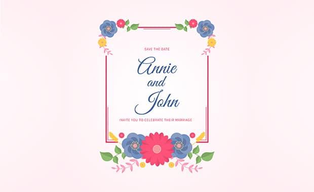 bingkai undangan pink